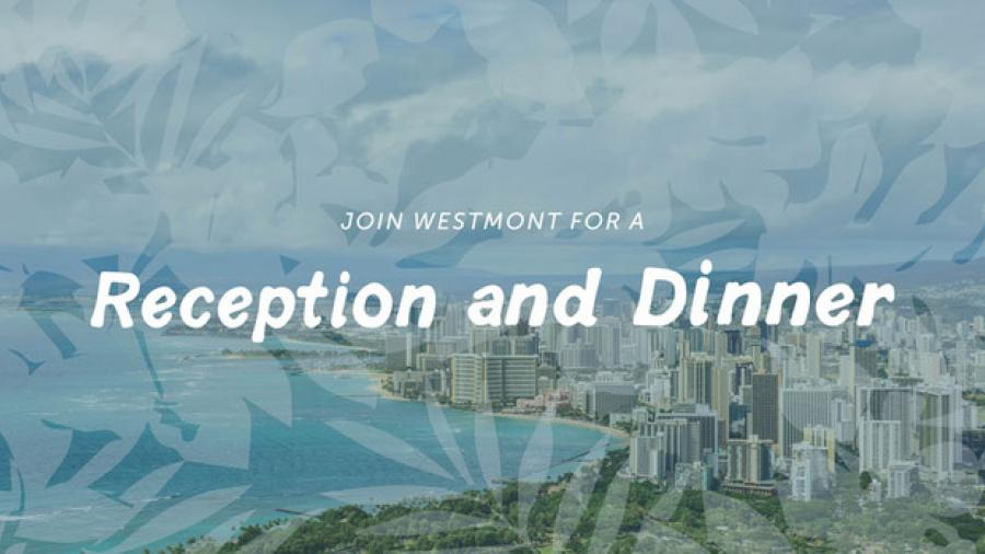 Hawaii reception and dinner header